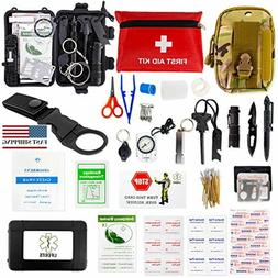 Survival Kit First Aid Kit- Survival Gear for Hiking - Emerg