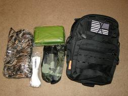 Survival Kit Outdoor Camping Military Backpack Emergency Gea