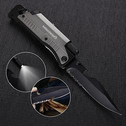 Survival Knife - Updated 7-in-1 Tactical Pocket Folding Knif