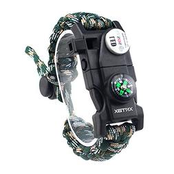 XNTBX Survival Paracord Bracelet - Survival Gear Kit with SO
