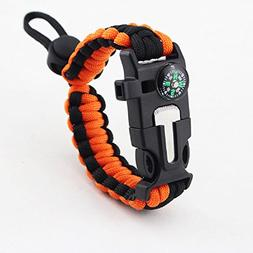 Goodlife Outdoor Survival Paracord Bracelet With Compass Fir