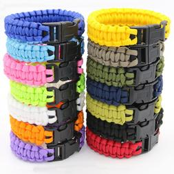 Survival Paracord Bracelet Camo Wristband Military Camping H