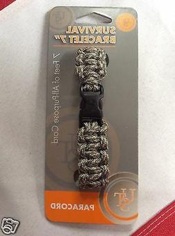 """Survival paracord camo bracelet7"""" emergency disaster camping"""