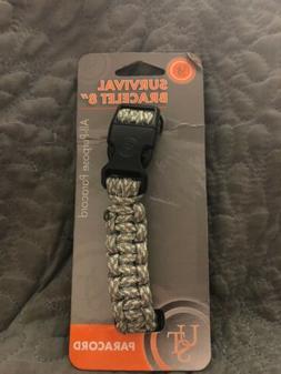 """UST Survival paracord orange bracelet 8"""" emergency disaster"""