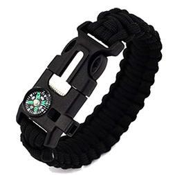 Dreamyth Outdoor Survival Watch Bracelet Paracord Compass Fl