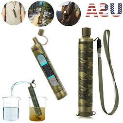 Survival Water Filter Straw Drinking Purifier Filtration Cam