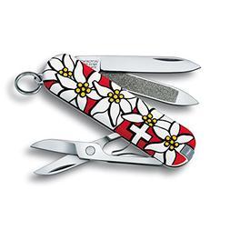 Victorinox Swiss Army Classic Pocket Knife, Blue Edelweiss