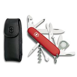 Victorinox Swiss Army Explorer with Free Pouch,Red