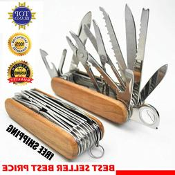 swiss fold army edc gear knife survive pocket camp outdoor c
