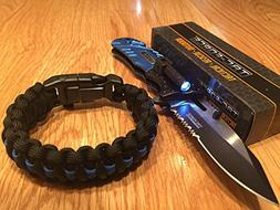 Lost Survival Gear Tac-Force Blue Police spring Assisted Ope