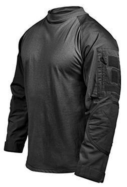 Rothco Tactical Airsoft Combat Shirt, Black, Large