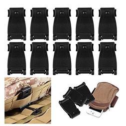 CHICTRY 10 Pack Tactical Bag Clip Backpack Strap Management