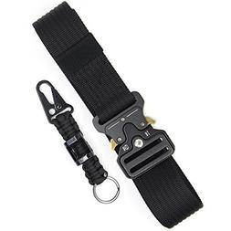 Tactical Belt Black Military Style Utility Belt Adjustable E
