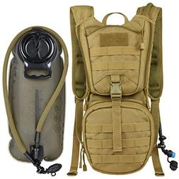 MARCHWAY Tactical Molle Hydration Pack Backpack with 3L TPU
