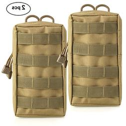Owlike 2 Pack Tactical Molle Pouches - Compact Utility Water