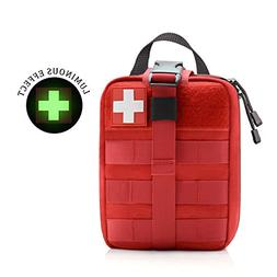 WishaLife Tactical MOLLE Rip-Away EMT Medical First Aid IFAK