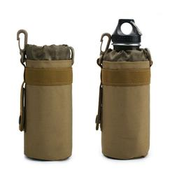 Tactical Molle Water Bottle Pouch Kettle Pocket Holder Army