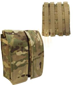Tactical MULTICAM AK AR Dual Double Riffle Mag Pouch Holds 2