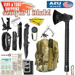Tactical Survival Axe First Aid Kit Outdoor Camping Tactical