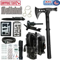 Tactical Survival Axe Tools Set Emergency Hunting Throwing T