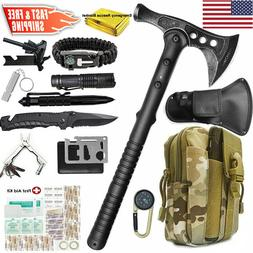Tactical Survival Throwing Tomahawk Axe Hatchet Kit Camping