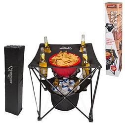Tailgating Table- Collapsible Folding Camping Table with Ins