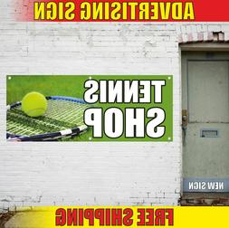 TENNIS SHOP Advertising Banner Vinyl Mesh Decal Sign SPORT G