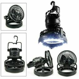 Tent Fan Light LED Camping Gear Equipment Outdoor Portable H