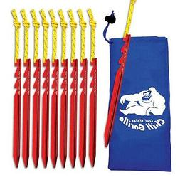 CHILL GORILLA 10X tent stake. Heavy duty lightweight strong