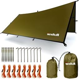 WildVenture Tent Tarp Rain Fly - Waterproof Lightweight Surv