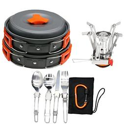 TH 12/16 Pcs Camping Cookware Stove Carabiner Canister Stand