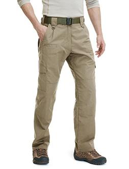 CQR CQ-TLP104-KHK_36W/30L Men's Tactical Pants Lightweight E