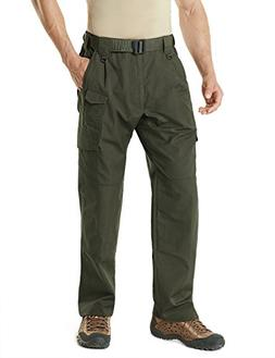 CQR CQ-TLP105-GRN_32W/34L Men's Tactical Pants Lightweight E