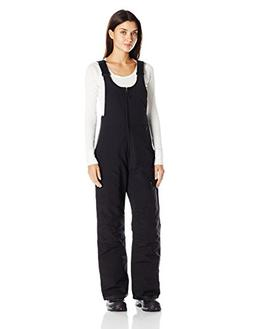 White Sierra Women's Toboggan Insulated Bib, Black, Small