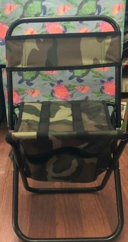 Toddler Kids Folding Chair with Zipper Gear Pouch Camouflage
