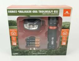 Ozark Trail LED Flashlight 200 lumens and Headlamp 50 Lumens