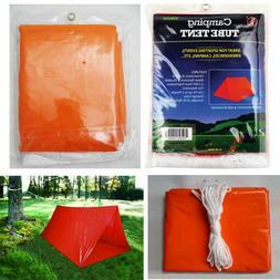 tube tent emergency survival camping shelter tarp