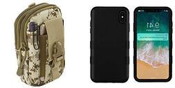 TUFF Hybrid  Phone Protector Cover Case  with Desert Camo Ta