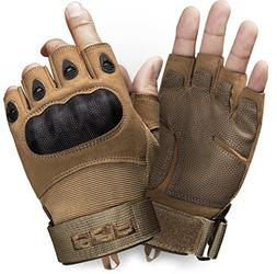 CQR CQ-TZG11-CYT_Large Tactical Half-Finger Gloves EDC Outdo