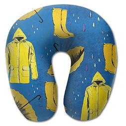 Vcxvbvvvv U Neck Pillow 3D Print Rain Gear Travel Rest Airpl