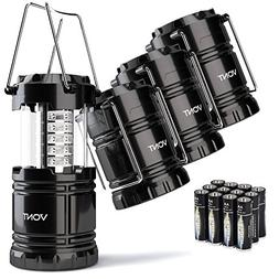 Vont 4 Pack LED Camping Lantern, Survival Kit for Hurricane,