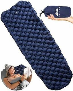 WellaX Ultralight Air Sleeping Pad - Inflatable Camping Mat