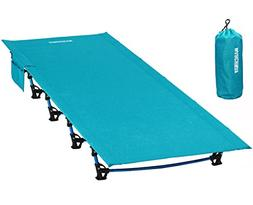 MARCHWAY Ultralight Folding Tent Camping Cot Bed, Portable C