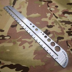 USA EDC Gear Stainless Steel Ruler Outdoor Camping Size Prot