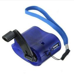 USB SOS Hand Crank Phone Charger Camping Backpack Survival G
