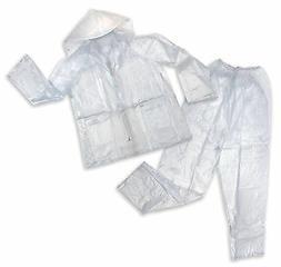 Stansport Men's Vinyl Rainsuit with Hood, Clear