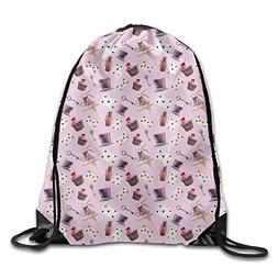 Unisex Waterproof Drawstring Backpack - Magic Rabbit Poker C