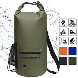 Waterproof Dry Bag-10L/20L/30L Roll Top Compression Sack wit