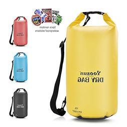 YOOSUN Waterproof Dry Bag, 10L/20L/30L/40L Dry Bag,Adjustabl