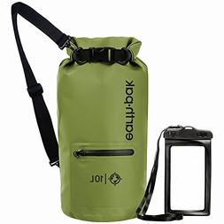 Earth Pak Waterproof Dry Bag with Front Zippered Pocket Keep